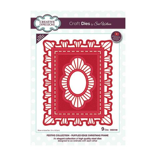 Ruffled Edge Christmas Frame