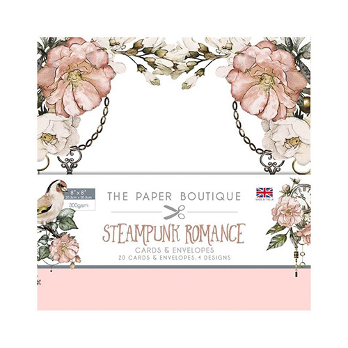 Steampunk Romance Card & Envelope Pack