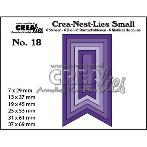 Crealies Crea-nest-Lies Small Vaandels glad (6x) CNLS18 / max. 37 x 62 mm (06-19)
