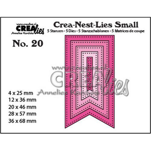 Crealies Crea-nest-Lies Small Vaandels met stippen (5x) CNLS20 / max. 36 x 68 mm (06-19)