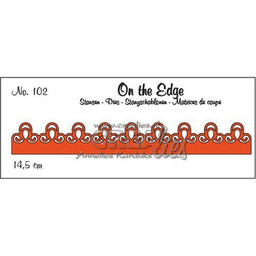 Crealies On the Edge On the Edge no. 102 pattern B CLOTE102 14,5 cm  (06-19)