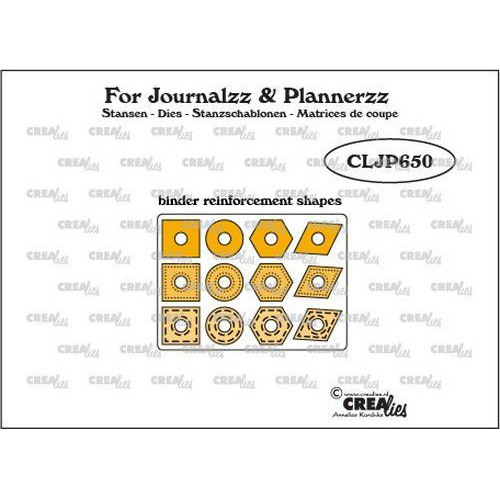 Crealies Journalzz & Pl 12 gaatjesverstevigers CLJP650 12x max. 15 mm (06-19)