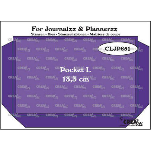 Crealies Journalzz & Pl Pocket Large (13,3 cm) + layer up CLJP651 85 x 133 mm (06-19)