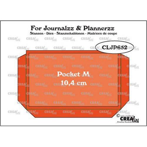 Crealies Journalzz & Pl Pocket Medium (10,4 cm) + layer up CLJP652 64 x 104 mm (06-19)