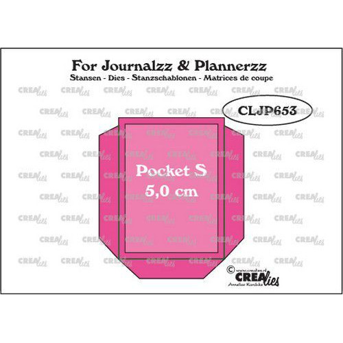 Crealies Journalzz & Pl Pocket Small (5,0 cm) + layer up CLJP653 50 x 66 mm (06-19)