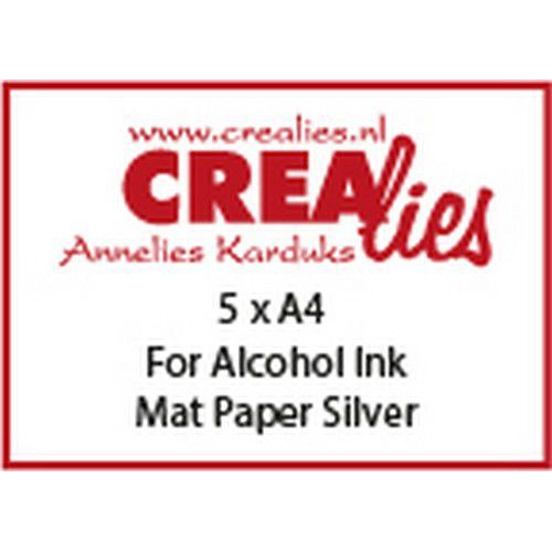 Crealies Basis A4 For alcohol ink: mat paper silver (5x) CLBS102 A4 (06-19)