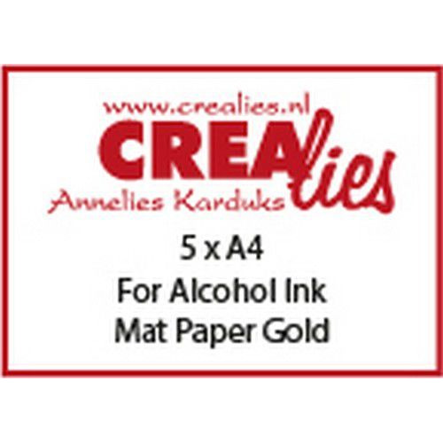 Crealies Basis A4 For alcohol ink: mat paper gold (5x) CLBS103 A4 (06-19)