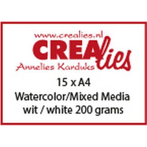 Crealies Basis A4 watercolor 200 grm (15x) CLBS104 A4 (06-19)