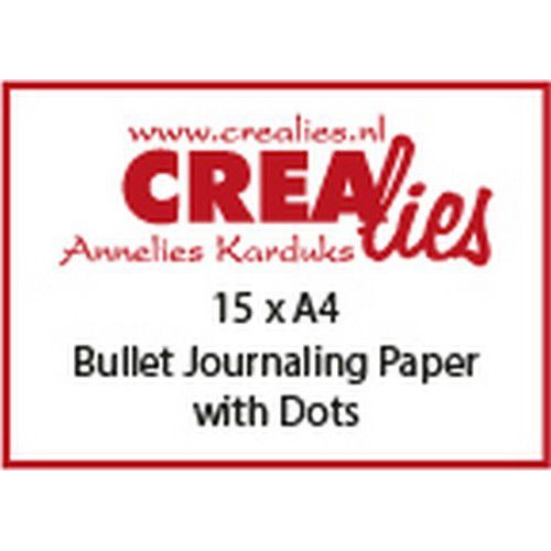 Crealies Basis A4 bullet journaling paper with dots (15x) CLBS108 A4 (06-19)