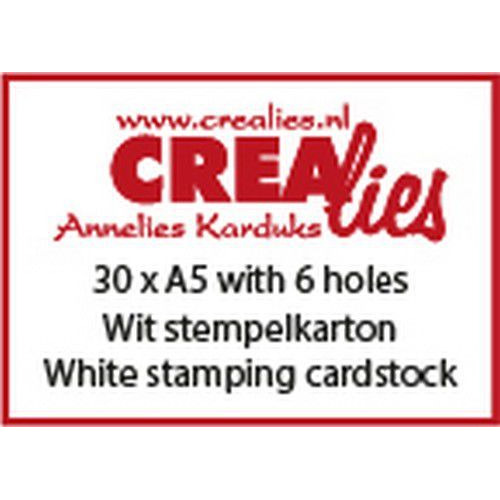 Crealies Basis A5 stempelkarton 240 grm (30x) CLBS206 A5 with 6 holes (06-19)