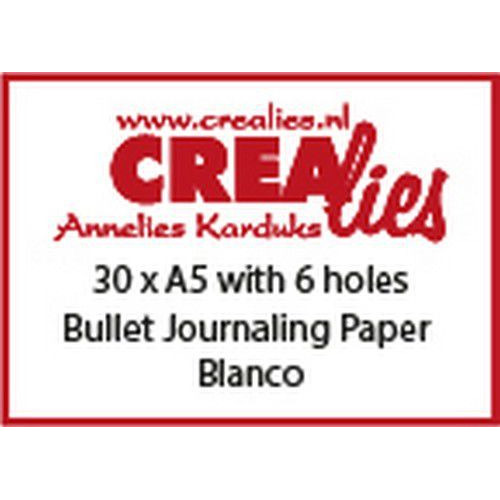 Crealies Basis A5 bullet journaling paper blanco 150 grm (30x) CLBS207 A5 with 6 holes (06-19)