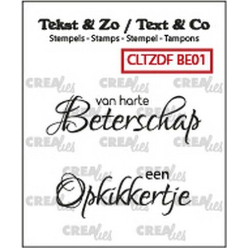 Crealies Clearstamp Tekst & Zo Font Beterschap no. 1 (NL) CLTZDFBE01 2x 15 x 42 mm (06-19)