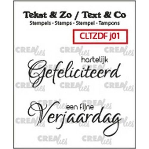 Crealies Clearstamp Tekst & Zo Font Jarig no. 1 (NL) CLTZDFJ01 2x 15 x 42 mm (06-19)