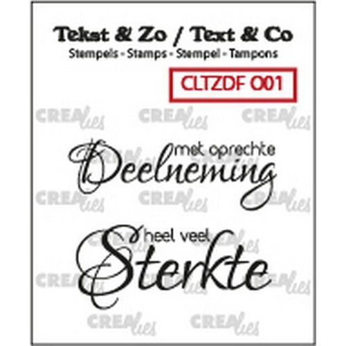 Crealies Clearstamp Tekst & Zo Font Overlijden no. 1 (NL) CLTZDFO01 2x 15 x 42 mm (06-19)