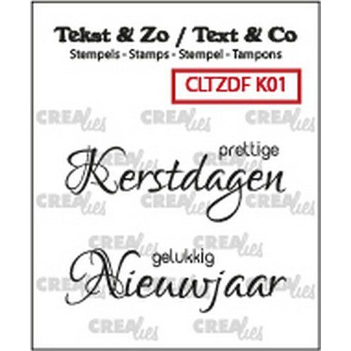 Crealies Clearstamp Tekst & Zo Font Kerst no. 1 (NL) CLTZDFK01 2x 15 x 42 mm (06-19)