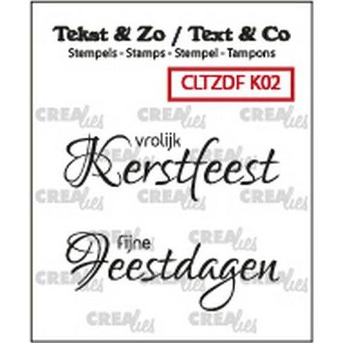 Crealies Clearstamp Tekst & Zo Font Kerst no. 2 (NL) CLTZDFK02 2x 15 x 42 mm (06-19)