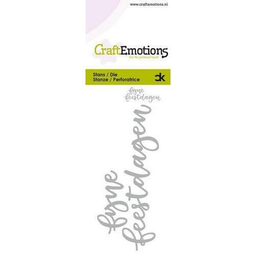 CraftEmotions Die Handletter - fijne feestdagen (NL) Card 5x10cm Carla Kamphuis (07-19)