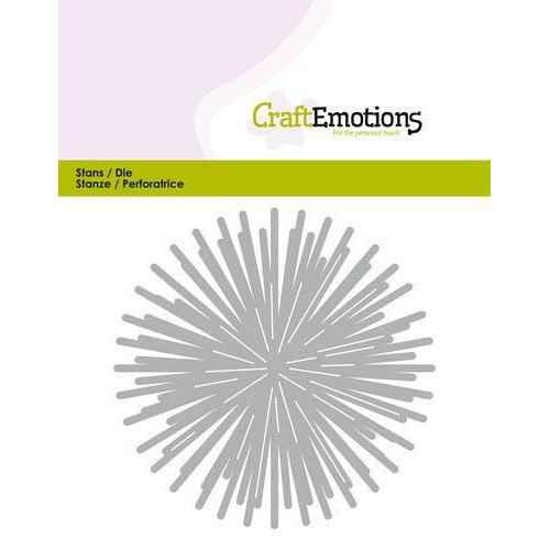 CraftEmotions Die - ster - stralen rond Card 11x9cm - 8,5cm (07-19)
