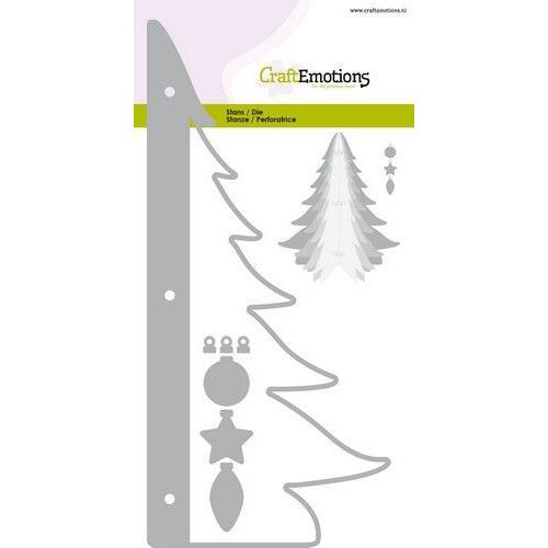 CraftEmotions Die - kerstboom decoratie 3D Card 10,5x14,8cm - 10,5cm - 14,5cm (07-2019)