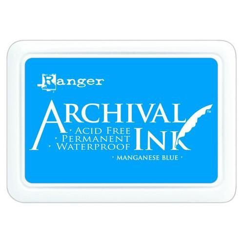 Ranger Archival Ink pad - manganese blue AIP30454