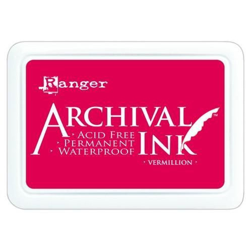 Ranger Archival Ink pad - vermillion AIP30461