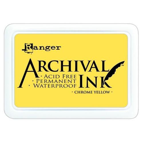 Ranger Archival Ink pad - chrome yellow AIP30591