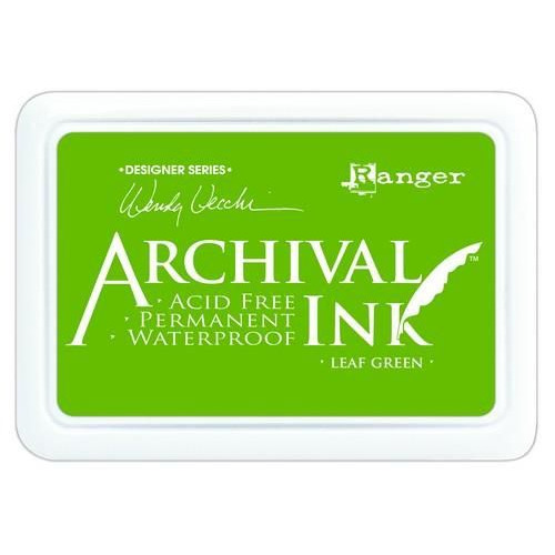 Ranger Archival Ink pad - leaf green AID41436 Wendy Vecchi