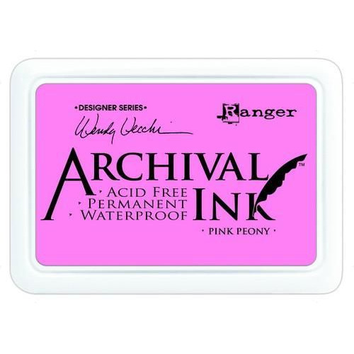 Ranger Archival Ink pad - pink peony AID45649 Wendy Vecchi