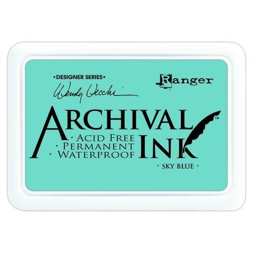 Ranger Archival Ink pad - sky blue AID45656 Wendy Vecchi