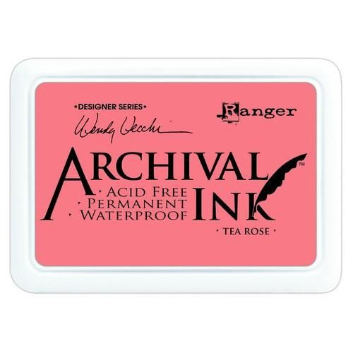 Ranger Archival Ink pad - tea rose AID45663 Wendy Vecchi