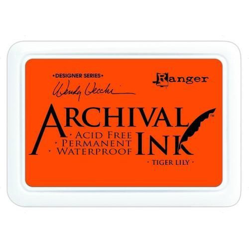 Ranger Archival Ink pad - tiger lily AID45670 Wendy Vecchi
