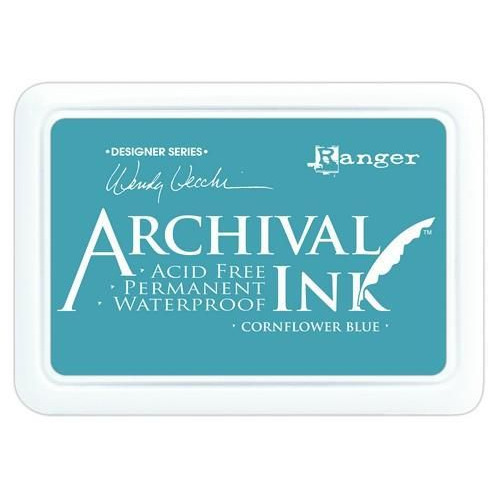 Ranger Archival Ink pad - cornflower blue AID38955 Wendy Vecchi