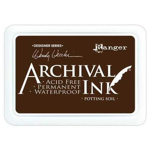 Ranger Archival Ink pad - potting soil AID38979 Wendy Vecchi