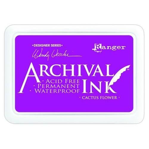 Ranger Archival Ink pad - cactus flower AID48985 Wendy Vecchi