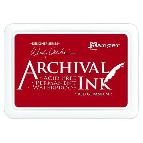 Ranger Archival Ink pad - red geranium AID38993 Wendy Vecchi
