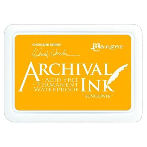 Ranger Archival Ink pad - sunflower AID49005 Wendy Vecchi