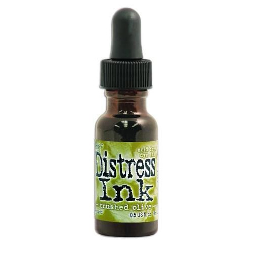 Ranger Distress Re- Inker 14 ml - crushed olive TIM27249 Tim Holtz
