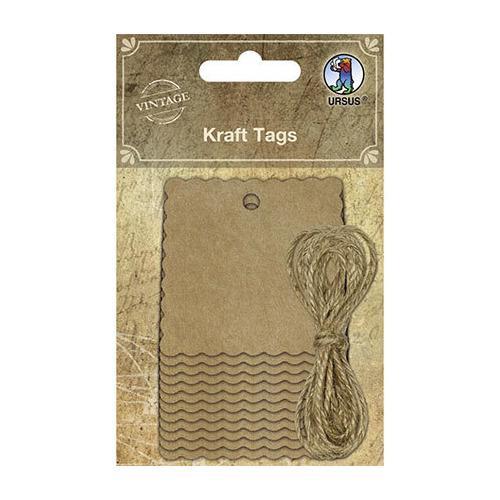 Kraft Tags, tags and yarn