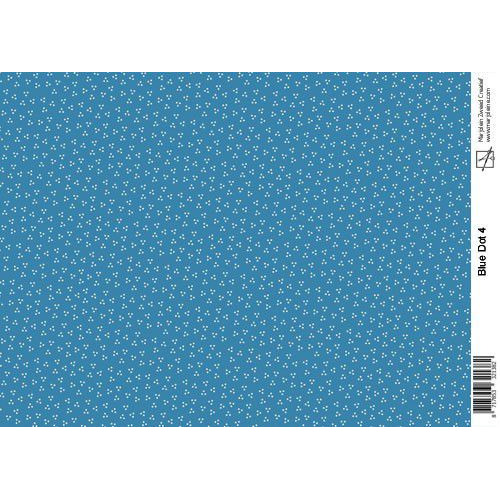 Marjoleine's Achtergrondpapier - blue dot A4 (06-19)
