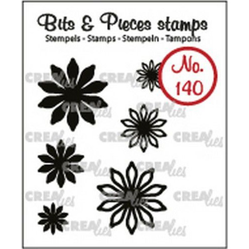 Crealies Clearstamp Bits & Pieces 6x Mini Bloemen 17 CLBP140 max. 20 mm (02-19)
