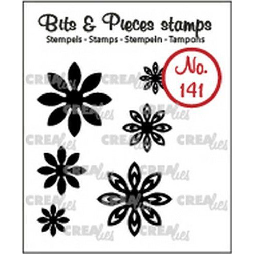 Crealies Clearstamp Bits & Pieces 6x Mini Bloemen 18 CLBP141 max. 20 mm (02-19)