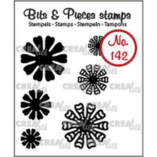 Crealies Clearstamp Bits & Pieces 6x Mini Bloemen 19 CLBP142 max. 20 mm (02-19)