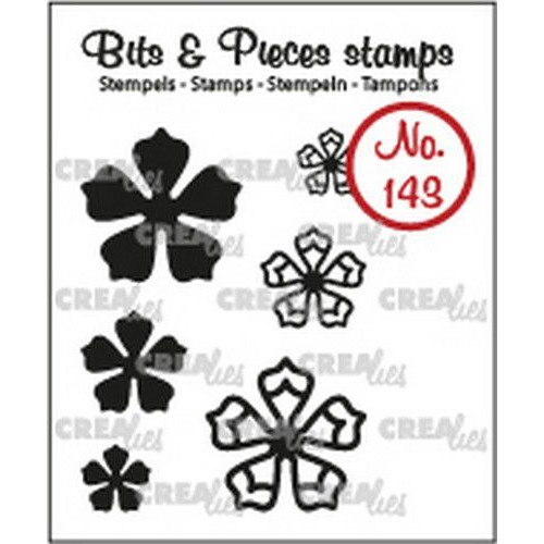 Crealies Clearstamp Bits & Pieces 6x Mini Bloemen 21 CLBP143 max. 20 mm (02-19)