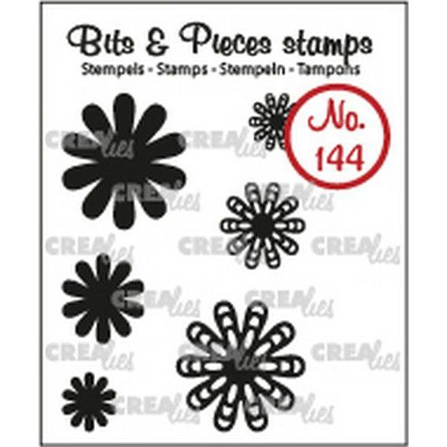 Crealies Clearstamp Bits & Pieces 6x Mini Bloemen 22 CLBP144 max. 20 mm (02-19)
