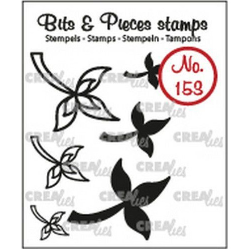 Crealies Clearstamp Bits & Pieces 6x Mini Blaadjes 10 CLBP153 max. 28x22 mm (02-19)