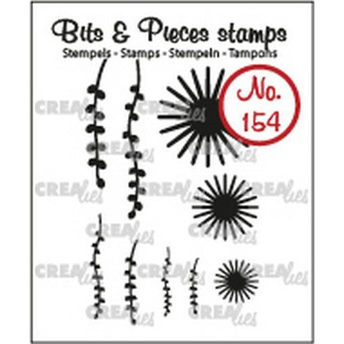 Crealies Clearstamp Bits & Pieces 9x Mini Bloemen 20 +Blad 9 CLBP154 max. 20x20 mm (02-19)