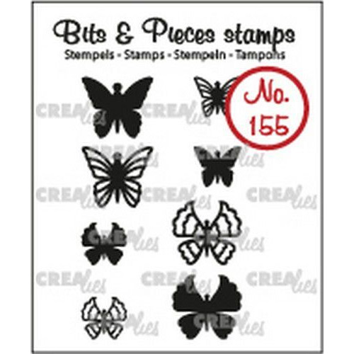 Crealies Clearstamp Bits & Pieces 8x Mini Vlinders 5 + 6 CLBP155 max. 13x12 mm (02-19)