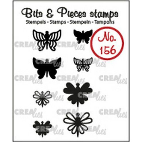 Crealies Clearstamp Bits & Pieces 8x Mini Vlinders 7 + 8 CLBP156 max. 14x12 mm (02-19)