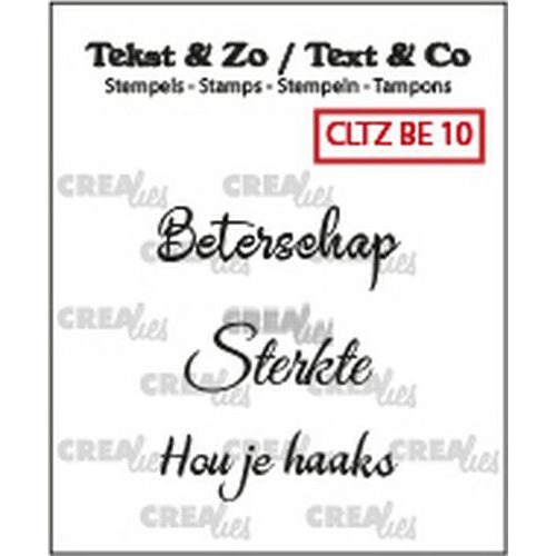 Crealies Clearstamp Tekst&Zo 3x Beterschap 10 (NL) CLTZBE10 max. 29 mm (02-19)