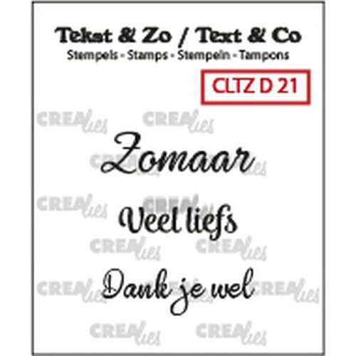 Crealies Clearstamp Tekst&Zo 3x Divers 21 (NL) CLTZD21 max. 29 mm (02-19)
